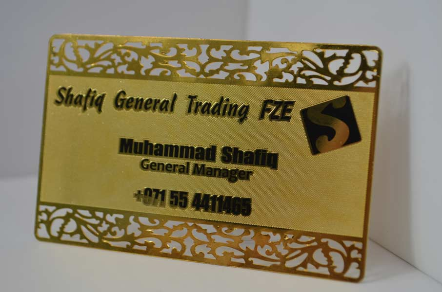Gold Metal Business Cards | 13th Element