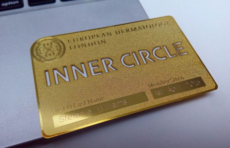 Gold Metal Business Card