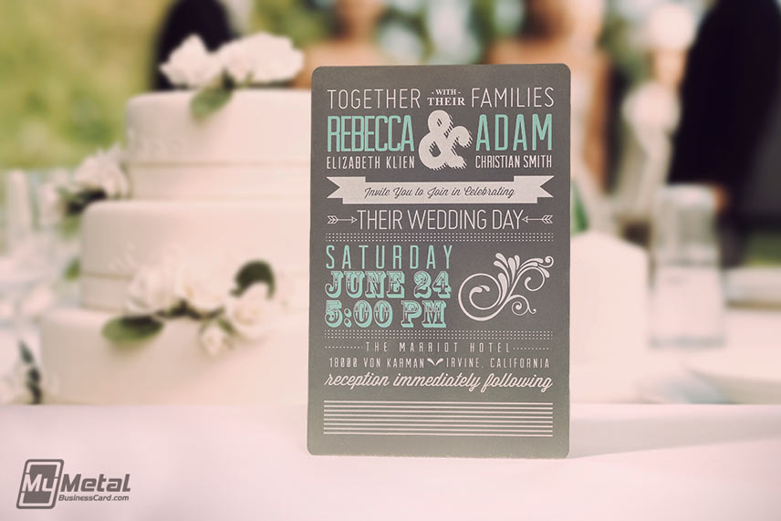 Invitation 13th element number 2 metal invite concept from mymetalbusinesscard reheart Images