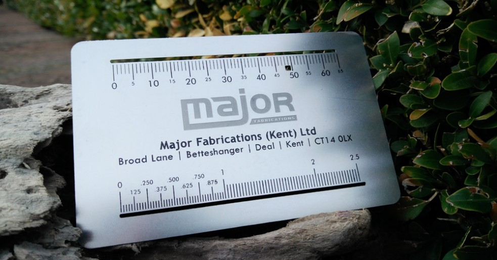 Matt Metal Business Card with Measure Tool