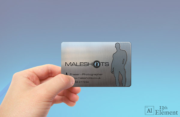 Metal Business Card Mockup
