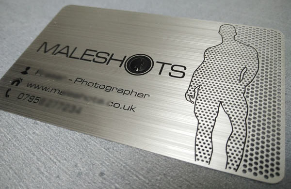 Metal Business Card Photo