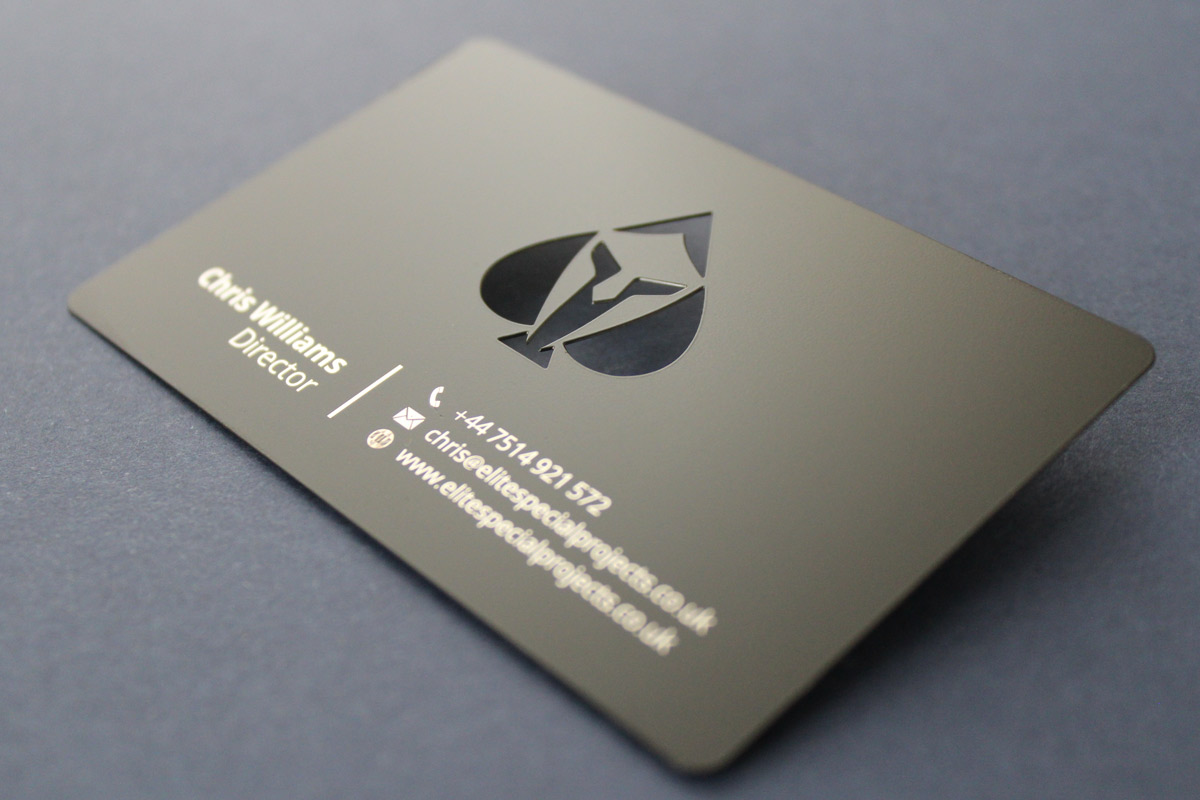 Matt Black Metal Business Cards – 13th Element