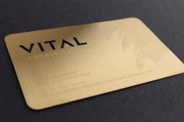 13 brushed gold metal business cards colourmoves